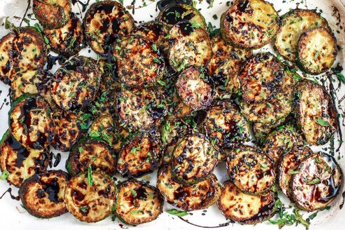 Zucchine con riduzione di balsamico