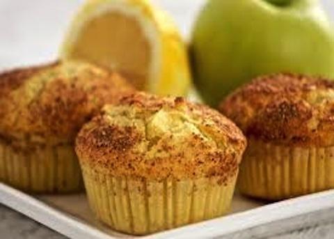 Muffin con mele e noci