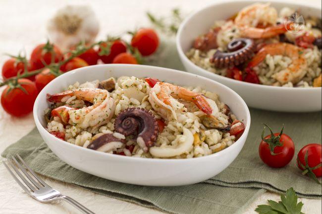Ricetta insalata di riso alla marinara