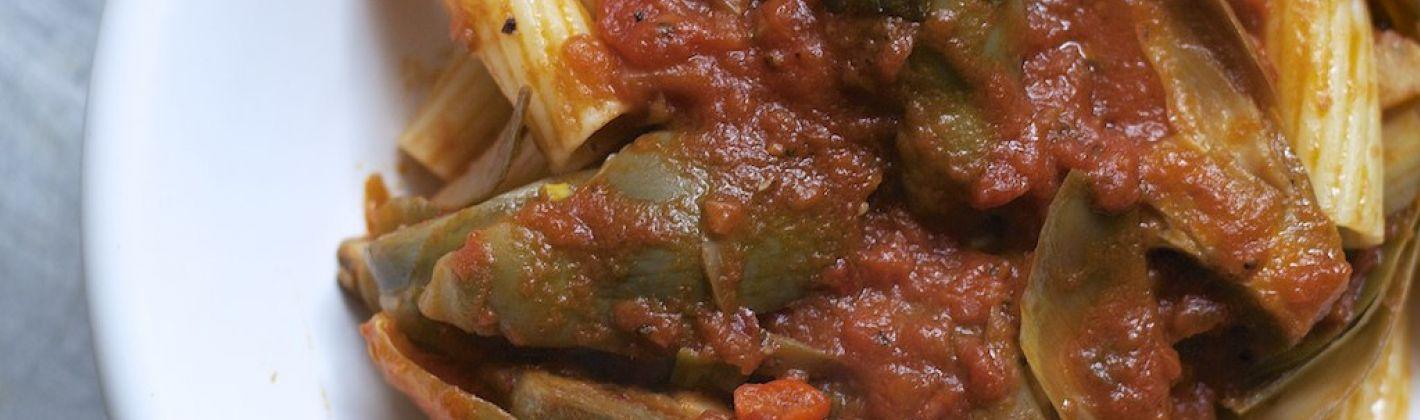 Ricetta pasta con il sugo di carciofi
