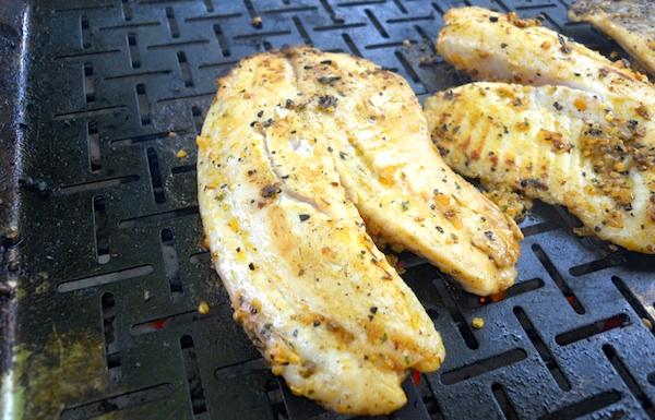 Tranci di pesce alla griglia
