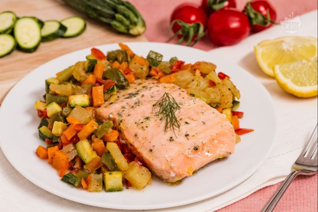 Ricetta salmone al vapore