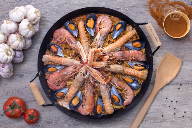 Ricetta paella de marisco