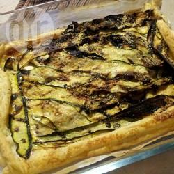 Torta salata allo stracchino e zucchine grigliate