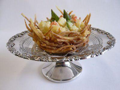 Ricetta cestini di patate fritte