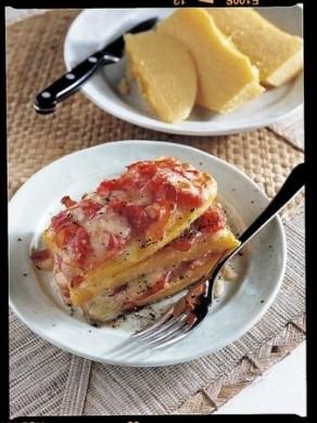 Ricetta lasagne di polenta con verza e carne