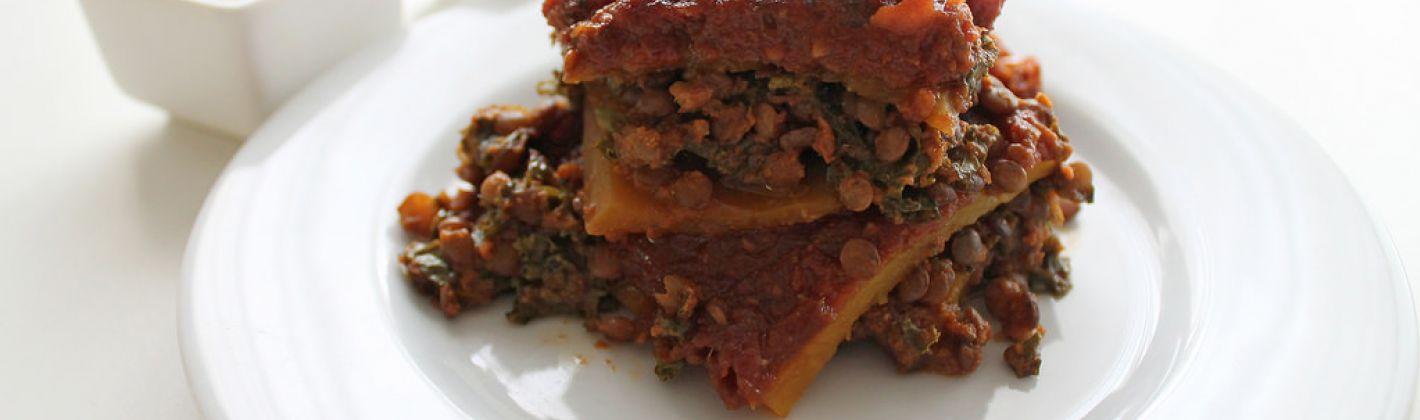 Ricetta lasagne aperte con lenticchie con il bimby