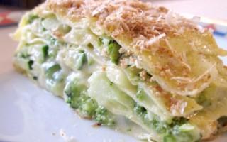 Ricetta lasagne con broccoli e zucchine
