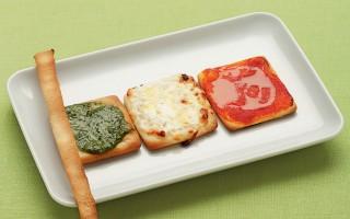 Ricetta pizzette tricolori