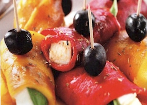 Involtini di peperone e mozzarella