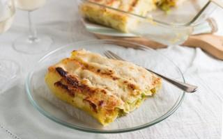 Ricetta cannelloni di verza e porri con salsa di zucca