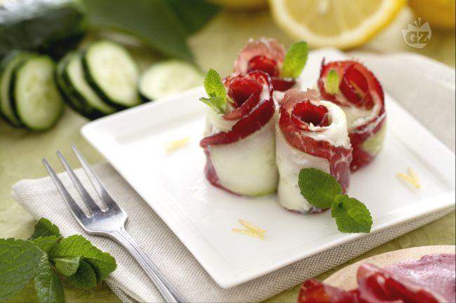 Ricetta rotolini di cetrioli
