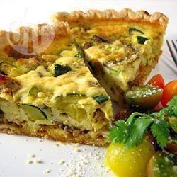 Torta salata con ricotta e zucchine