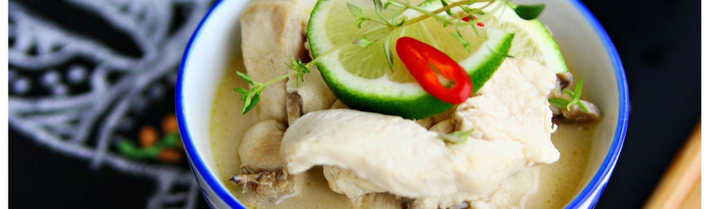Ricetta zuppa di pollo al latte di cocco (tom kha)