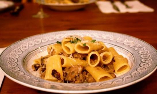 Pasta radicchio e salsiccia