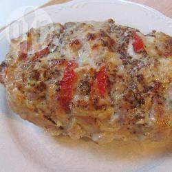 Arrosto di maiale con ripieno di formaggio e pomodoro