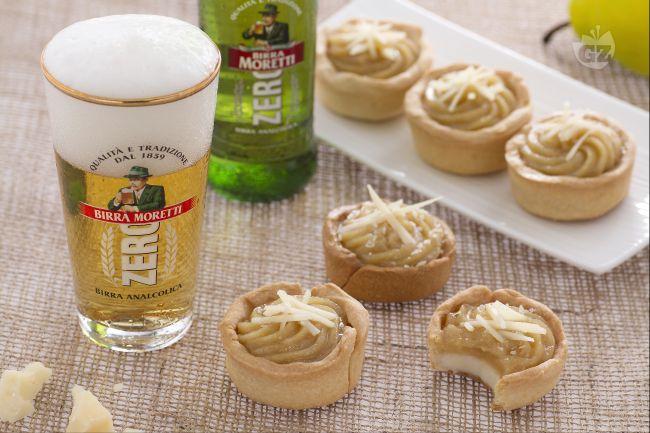 Ricetta bicchierini alla birra con crema al parmigiano