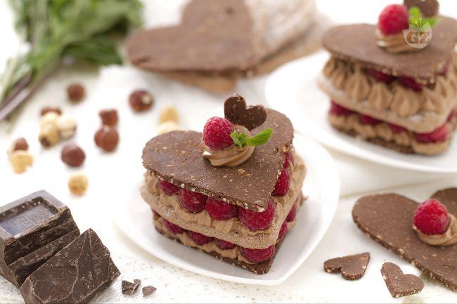 Ricetta cuoricini al cioccolato e lamponi
