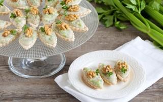 Ricetta barchette alla mousse di gorgonzola e sedano