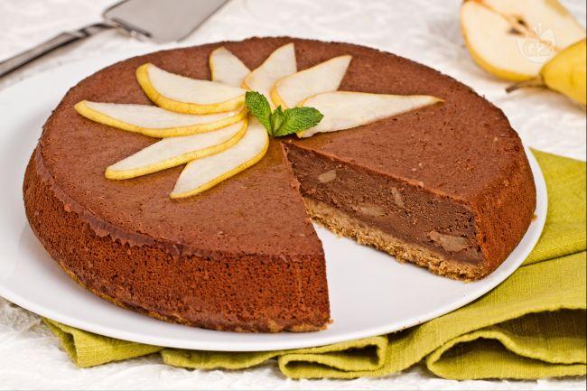 Ricetta cheesecake cioccolato e pere