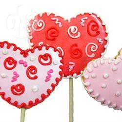Lollipop romantici di san valentino