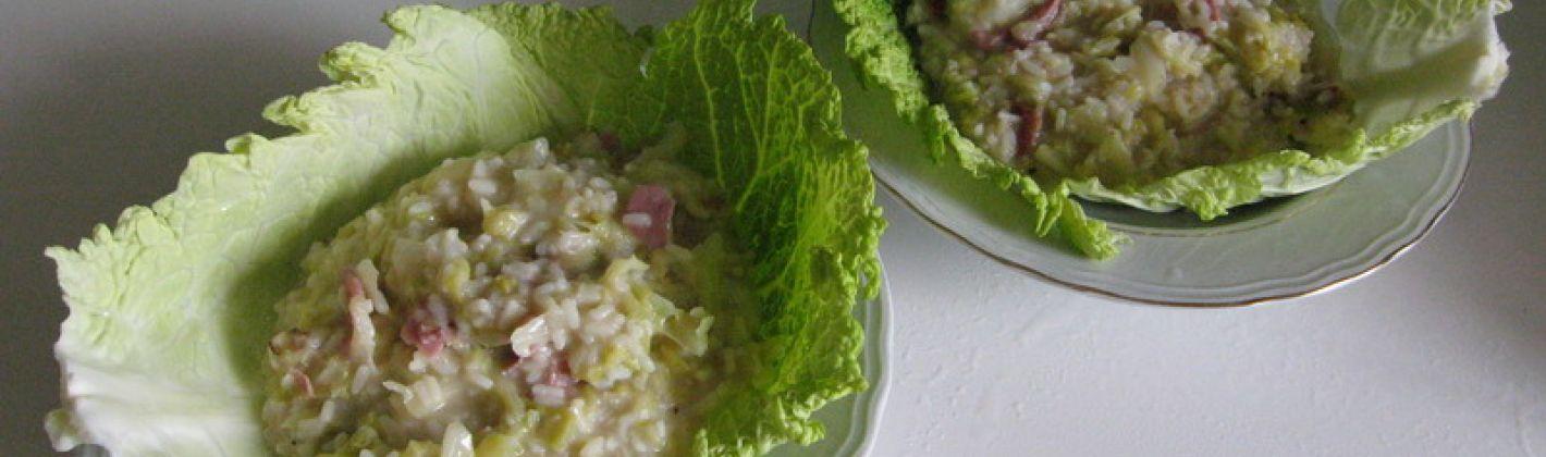 Ricetta risotto con verza e salsiccia