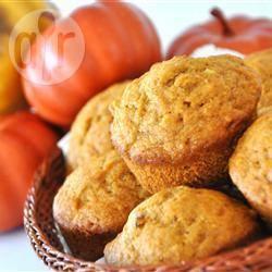 Muffin di farina integrale alla zucca e miele