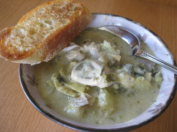 Oysters soup
