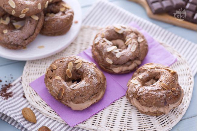 Ricetta mini paris-brest al cacao con crema al cioccolato