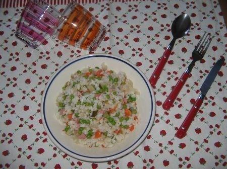 Ricetta insalata di riso multicolore