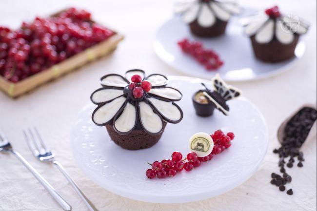 Ricetta cupcake fiore di cioccolato