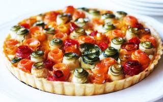 Ricetta torta di rose salata con verdure