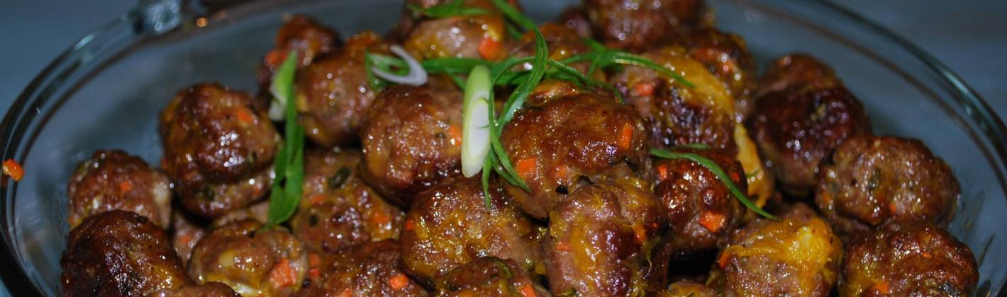 Ricetta polpette di carne e verdure in salsa all'arancia