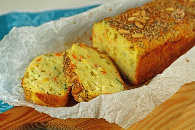 Ricetta plumcake con verdure e edamer