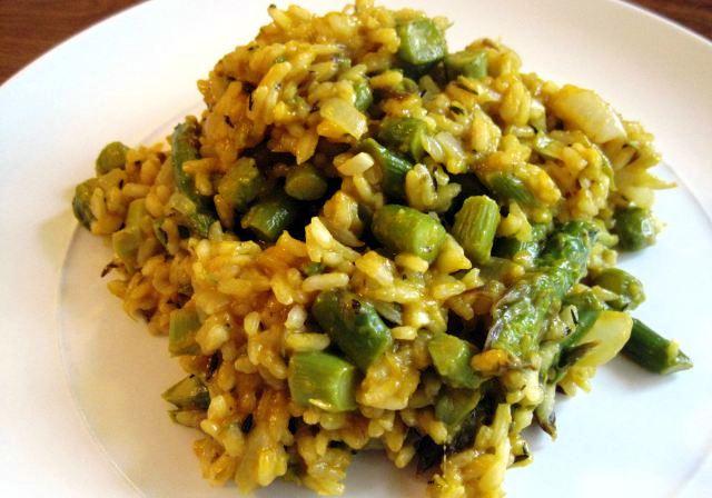 Risotto asparagi e spinaci
