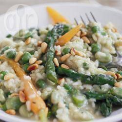 Risotto al pesto e verdure primaverili