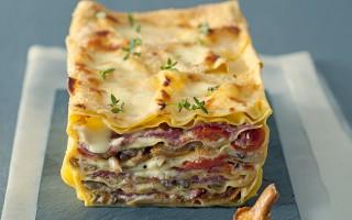 Ricetta terrina di lasagne ai funghi con pomodorini confit ...