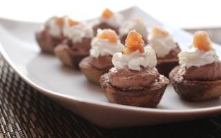 Ricetta cestini di castagne con panna e cioccolato