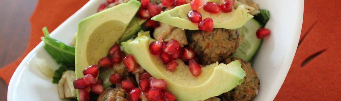 Ricetta tacchino al melograno e avocado