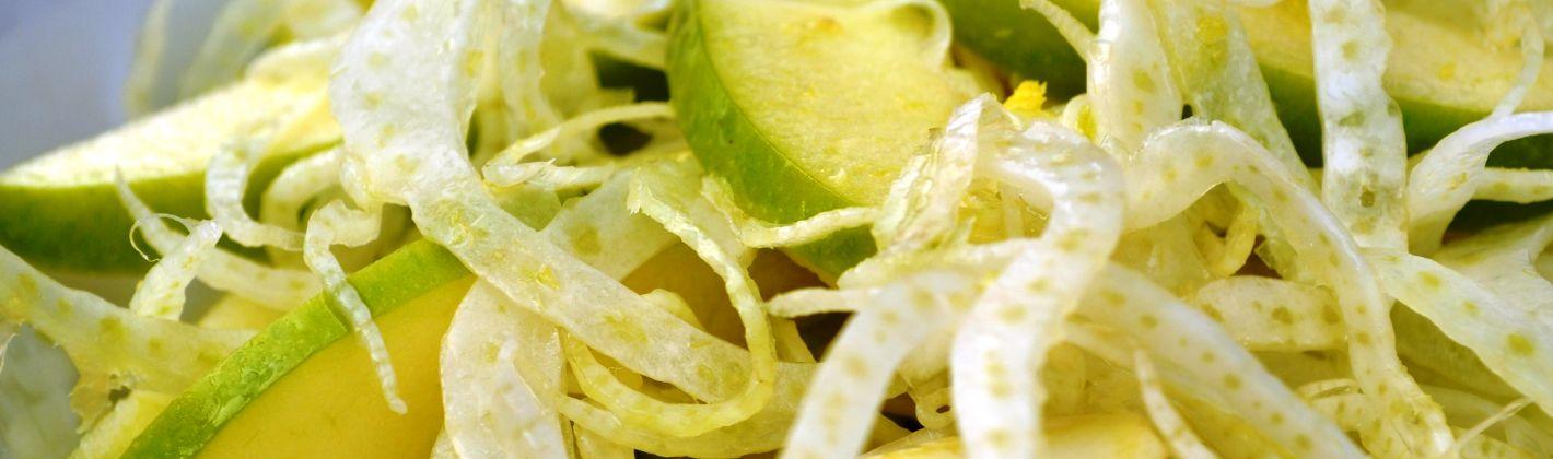 Ricetta carpaccio di finocchi e mela verde con olive