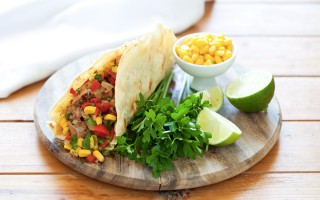 Ricetta tacos con carne alla griglia e verdure