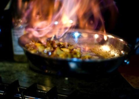 Filetto di maiale flambè