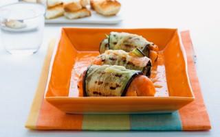 Ricetta involtini di salmone e melanzane con ripieno di zucchine ...