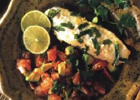 Rana pescatrice con salsa messicana