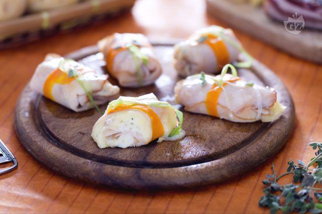Ricetta involtini di tacchino con patate, ricotta e pancetta