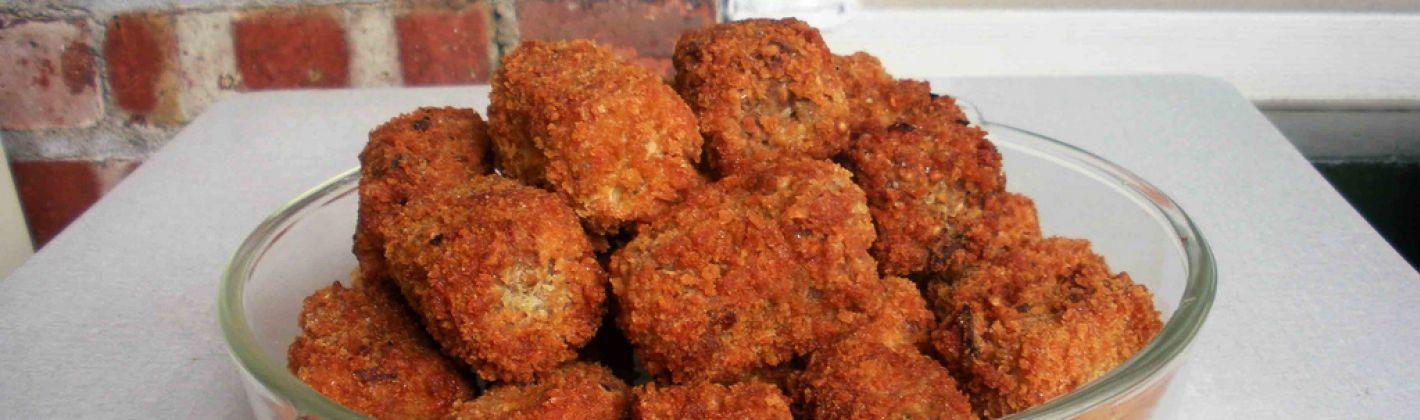 Ricetta crocchette di pollo con mortadella e funghi