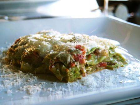 Lasagne verdi incassettate