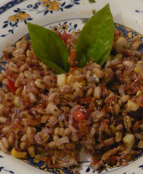 Riso 3 cereali expresso con rucola, pomodorini e mais