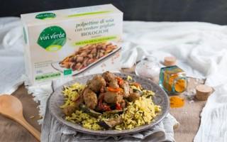 Ricetta polpettine di soia con verdure grigliate e riso