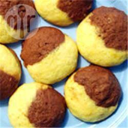 Biscottini bicolore al cioccolato e arancia